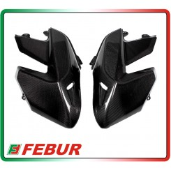 Coppia fianchi anteriori esterni carbonio Ducati Hypermotard 796 1100