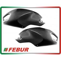 Coppia cover laterali serbatoio in carbonio Ducati Monster 696 796 1100 2008-2014