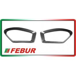 Coppia cover retina serbatoio in carbonio Ducati Monster 696 796 1100 2008-2014