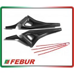 Coppia cover telaio codino in carbonio Ducati Monster 796 1100 2009-2014