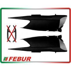 Fiancate posteriori senza fori maniglioni in carbonio Yamaha T-Max 500 2008-2011