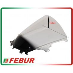 Cupolino plexiglass Febur rialzato trasparente Yamaha R1 R1M 2015