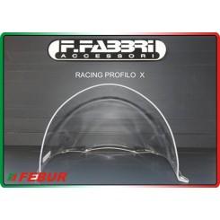 Cupolino plexiglass solo pista trasparente Aprilia RSV mille  (2001/2003)