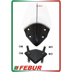 Cupolino plexiglass Febur rialzato trasparente Ducati Hypermotard 821 2013-2016