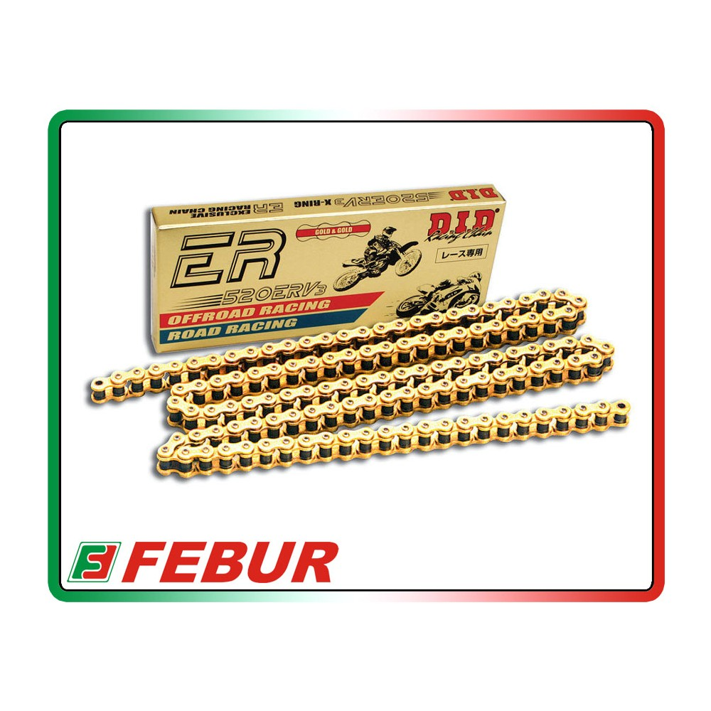 Catena O Ring Ox Ring.Racing Chain Did Er 520 Erv3 120 X Rings