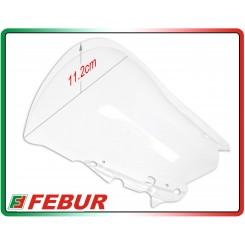 Cupolino plexiglass Febur rialzato trasparente Yamaha R3 2015-2017