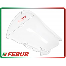 Plexiglass Febur increased transparent Yamaha R3 2015-2017