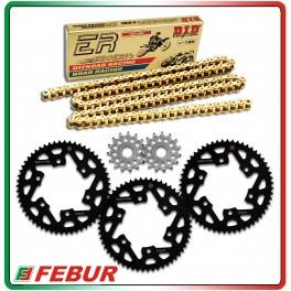 Kit trasmissione Gandini Race 7 corone + 3 pignoni + catena DID ERZ 415 Yamaha R3 2015-2017