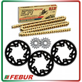 Ergal ultra light rear sprocket Gandini Race 415 Yamaha R3 2015-2017