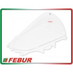 Cupolino plexiglass Febur rialzato trasparente Yamaha R3 2015-2018